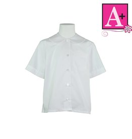 School Apparel A+ White Short Sleeve Peter Pan Blouse