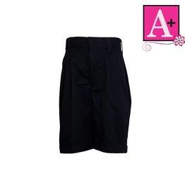School Apparel A+ Navy Blue Pleated Walk Shorts #7308