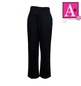 School Apparel A+ Navy Blue Mid-rise Pants #7102