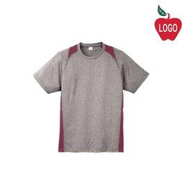 Sport-Tek Grey & Maroon Short Sleeve Tee #ST361