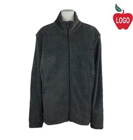 Harriton Charcoal Grey Full Zip Fleece Jacket #M990