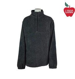 Harriton Charcoal Grey Half Zip Fleece Jacket #M980