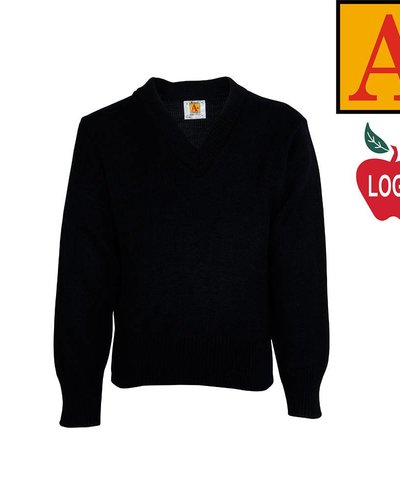 School Apparel A  Navy Blue Pullover Sweater #6500 - Merry Mart ...
