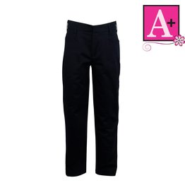 School Apparel A+ Navy Blue Mid-rise Pant #7540