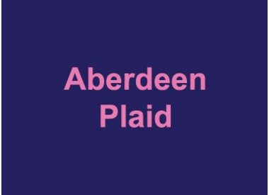 Aberdeen Plaid