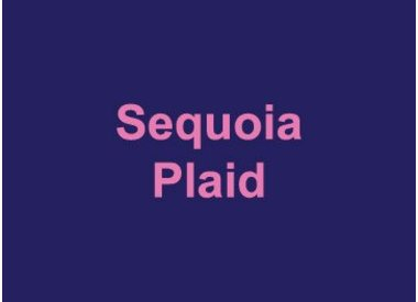 Sequoia Plaid