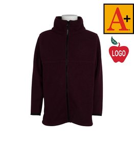 School Apparel A+ Wine Full Zip Fleece Jacket #6202