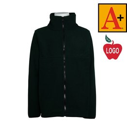 School Apparel A+ Green Full Zip Fleece Jacket #6202