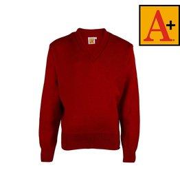 School Apparel A+ Lipstick Red Pullover Sweater #6500