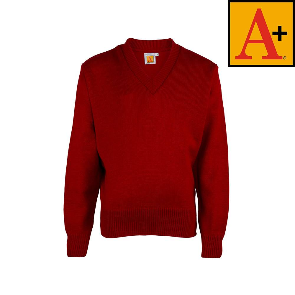 School Apparel A  Lipstick Red Pullover Sweater #6500 - Merry Mart ...