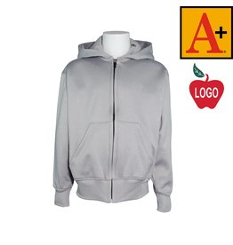 School Apparel A+ Grey Full Zip Sweatshirt #6131
