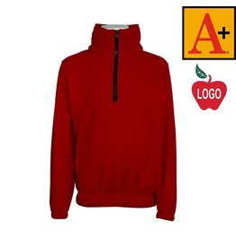 School Apparel A+ Lipstick Red Half Zip Fleece Jacket #6235