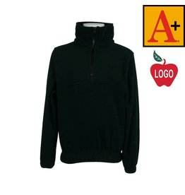 School Apparel A+ Green Half Zip Fleece Jacket #6235