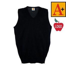School Apparel A+ Navy Blue Fine Gauge Sweater Vest #6433
