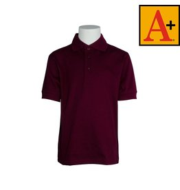 School Apparel A+ Wine Short Sleeve Jersey Polo #8320