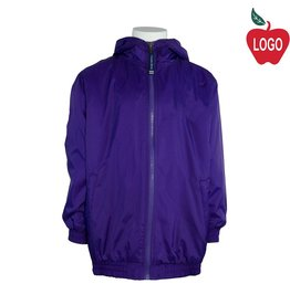 Charles River Purple Hooded Nylon Jacket #8921