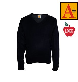 School Apparel A+ Navy Blue Fine Gauge Pullover Sweater #6432