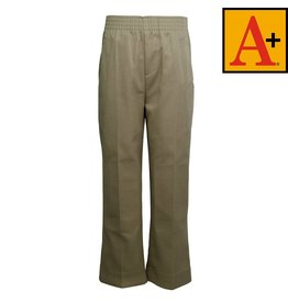 School Apparel A+ Khaki Pull-on Pants #7059Y