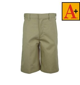 School Apparel A+ Khaki Plain Front Walk Shorts #7033M