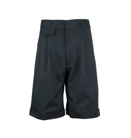Rifle Charcoal Grey Pleated Walk Shorts #GS