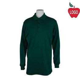 Elder Green Long Sleeve Interlock Polo #5671
