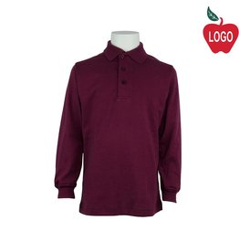 Elder Wine Long Sleeve Interlock Polo #5671