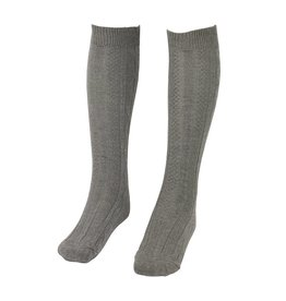 School Apparel A+ Grey Heather Cable Knit Knee Socks #125