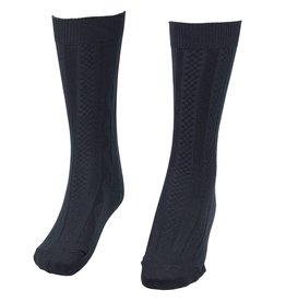 School Apparel A+ Navy Blue Cable Knit Knee Socks #125
