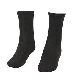 School Apparel A+ Black Bamboo Crew Socks