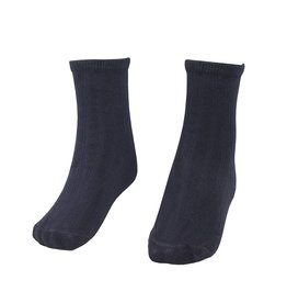 School Apparel A+ Navy Blue Bamboo Crew Socks #92