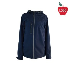 North End Navy Blue Hooded Soft-shell Jacket