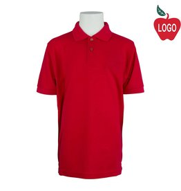 Port Authority Red Short Sleeve Pique Polo #500