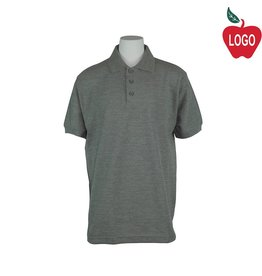 Universal Grey Short Sleeve Pique Polo #U838