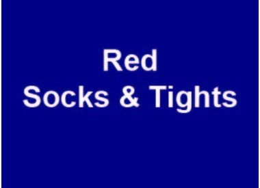 Red Socks & Tights