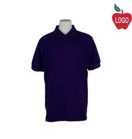 Universal Purple Short Sleeve Pique Polo #U838