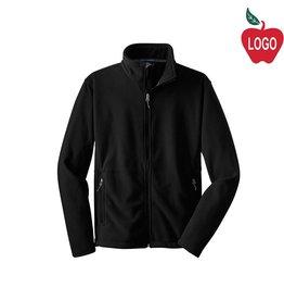 Port Authority Black Full Zip Fleece Jacket #217