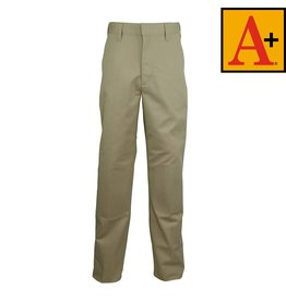 School Apparel A+ Khaki Plain Front Pants #7120