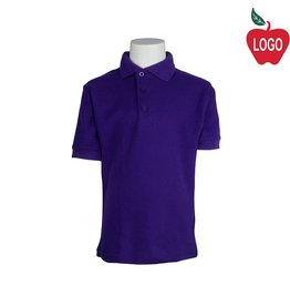 Tulane Purple Short Sleeve Pique Polo #8747