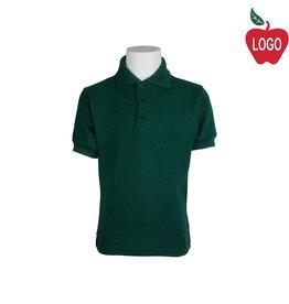 Tulane Green Short Sleeve Pique Polo #8747