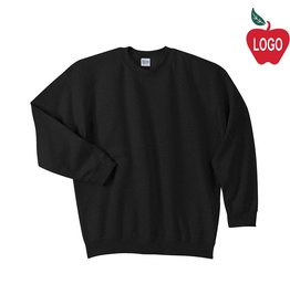 Gildan Black Crew-neck Sweatshirt #18000