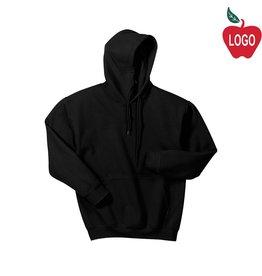 Gildan Black Pullover Hood Sweatshirt #18500