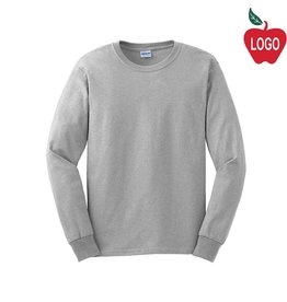 Gildan Ash Grey Long Sleeve Tee #2400