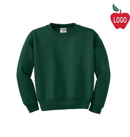 Jerzees Green Crew-neck Sweatshirt #562