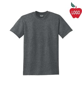 Gildan Dark Heather Grey Short Sleeve Tee #8000
