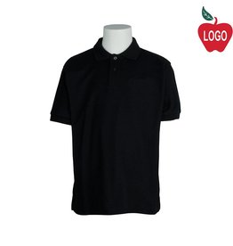 Port Authority Mens Black Short Sleeve Pique Polo #K500