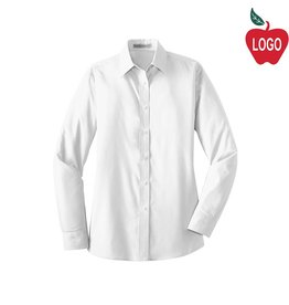 Port Authority Ladies White Long Sleeve Dress Shirt #L632