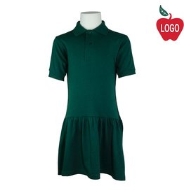 Rifle Green Short Sleeve Knit Dress #K380B