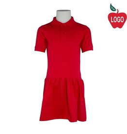 Rifle Red Short Sleeve Knit Dress #K380B
