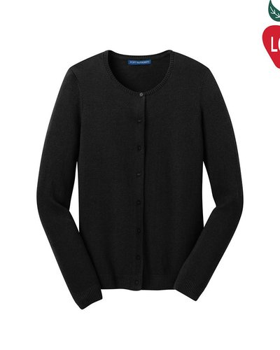 Port Authority Ladies Black Cardigan Sweater #LSW287 - Merry Mart ...