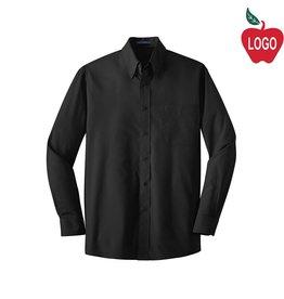 Port Authority Mens Black Long Sleeve Dress Shirt #S632